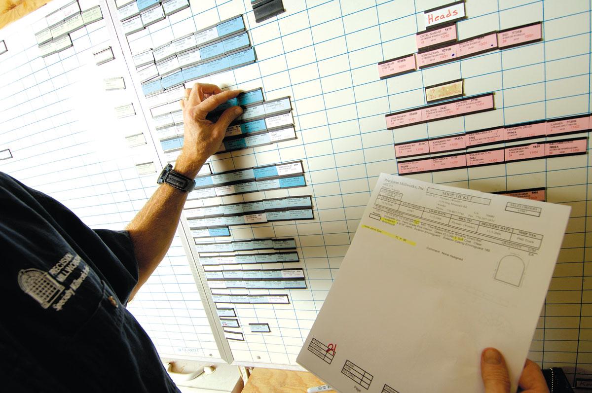 Magnet board order tracking
