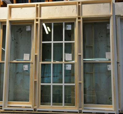 Windows with split sash PVC and wood