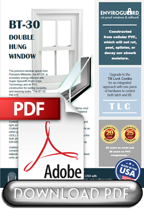 Product information for Precision Millwork's BT30 Premium Window