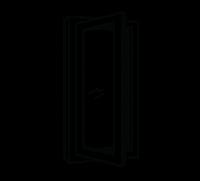 Casement window, side open