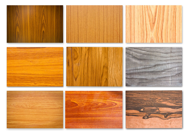 Wood species for custom doors: Maple, Oak, Pine, Walnut, Hemlock, Poplar, Cherry, and reclaimed wood